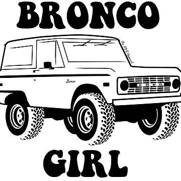 Bronco Girl 1966-1977 Black Print by TheOBSApparel
