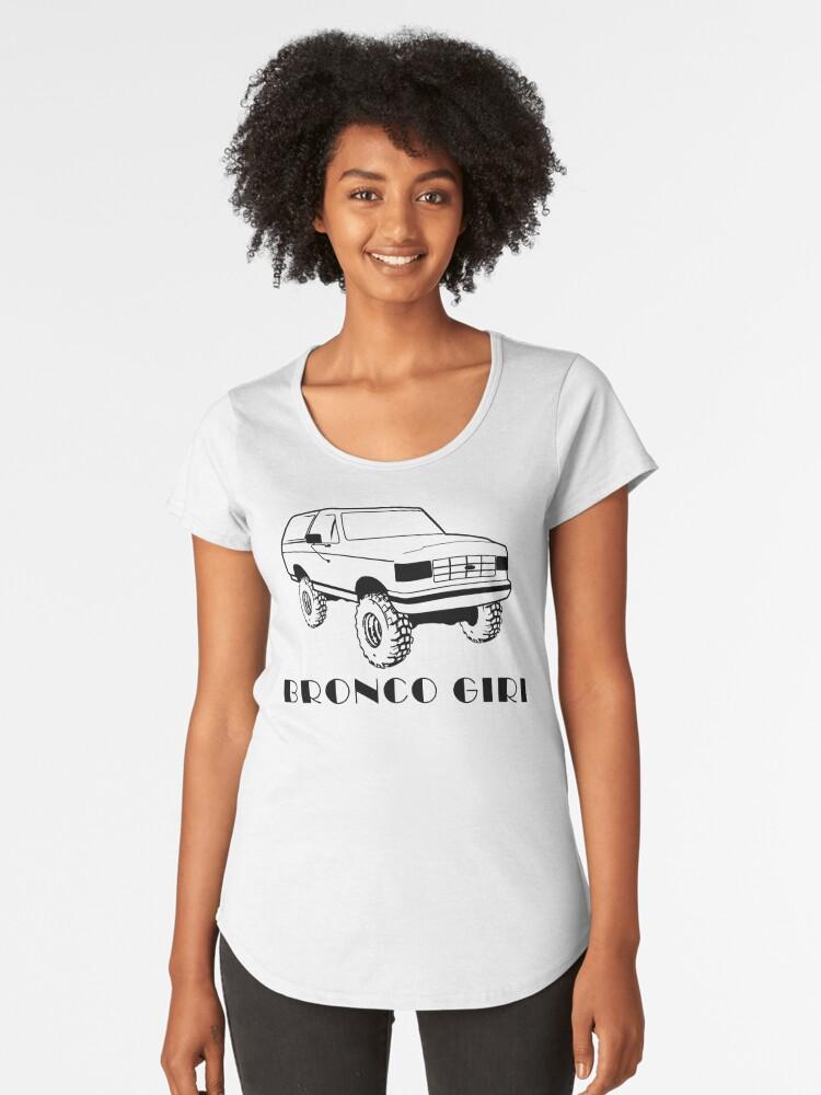 Bronco Girl 1987-1991 Black Print  Women's Premium T-Shirt Front