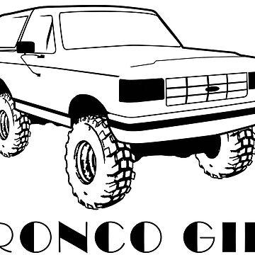 Bronco Girl 1987-1991 Black Print  by TheOBSApparel