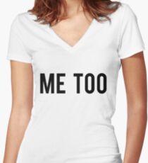 Camiseta entallada de cuello en V Me Too