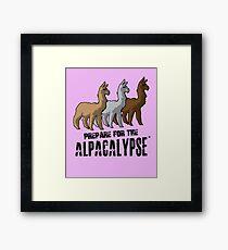 Prepare Alpacalypes Rainbow Alpaca Design Framed Print