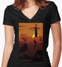 ...and the Gunslinger followed Women's Fitted V-Neck T-Shirt