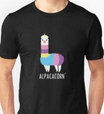 Alpacacorn-Regenbogen-Alpaka-Entwurf Slim Fit T-Shirt