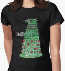 Christmas Dalek Women's Fitted T-Shirt