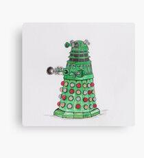 Christmas Dalek Metal Print