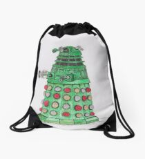 Christmas Dalek Drawstring Bag