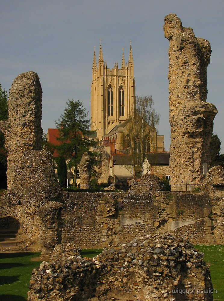 Bury St Edmunds Cathedral and Abbey Ruins by wiggyofipswich
