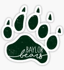 Baylor Bear Paw Sticker