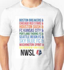 National Women's Soccer League Teams Unisex T-Shirt