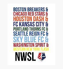 National Women's Soccer League Teams Photographic Print
