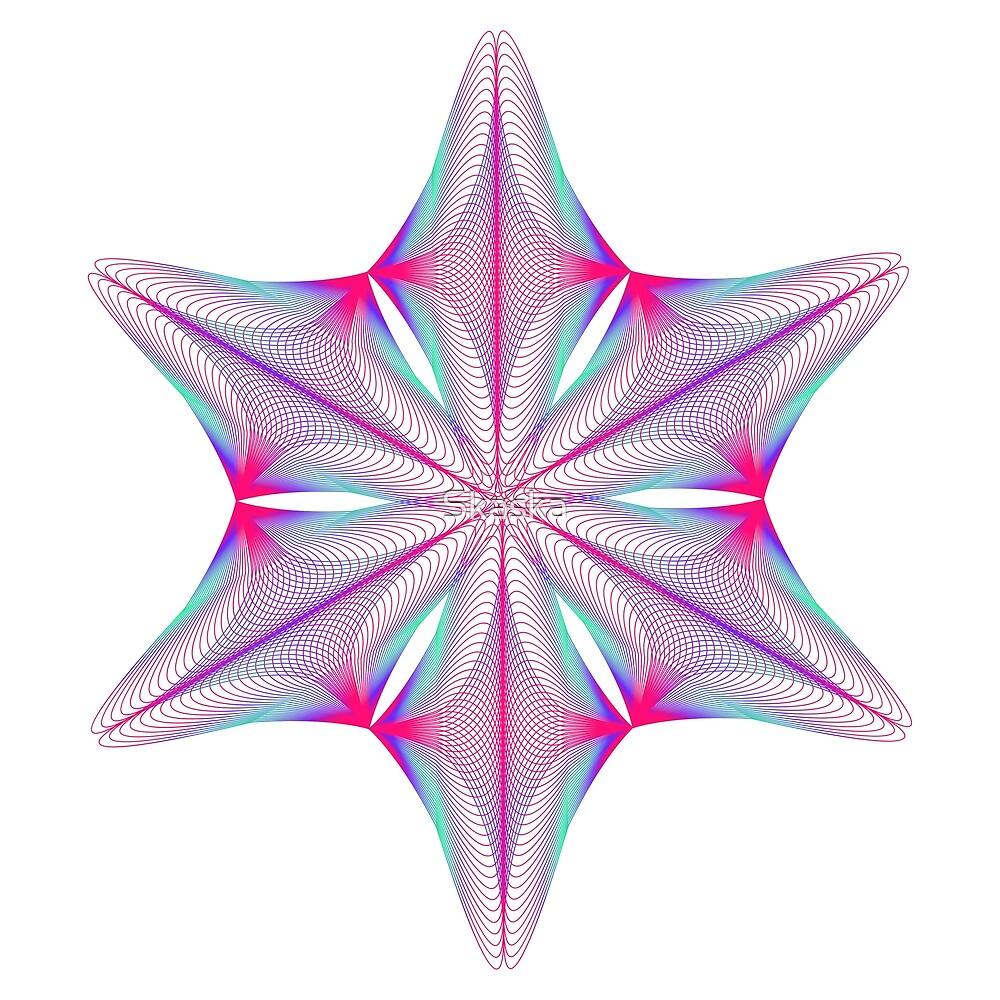 Abstract geometric shape  - rotating elements of lines and circles.  by Skaska