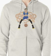 Gnarly Handles - Curry blue Zipped Hoodie