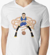 Gnarly Handles - Curry blue Men's V-Neck T-Shirt