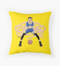 Gnarly Handles - Curry blue Floor Pillow