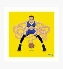 Gnarly Handles - Curry blue Art Print