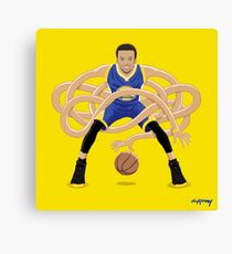 Gnarly Handles - Curry blue Canvas Print