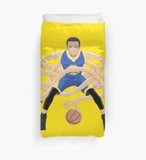 Gnarly Handles - Curry blue Duvet Cover