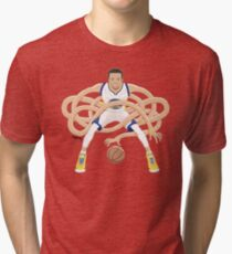 Gnarly Handles - Curry white Tri-blend T-Shirt