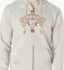 Gnarly Handles - Curry white Zipped Hoodie