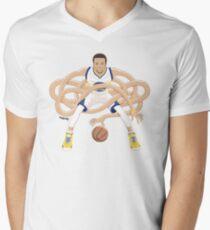 Gnarly Handles - Curry white Men's V-Neck T-Shirt