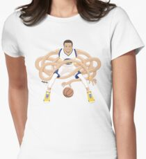 Gnarly Handles - Curry white Women's Fitted T-Shirt
