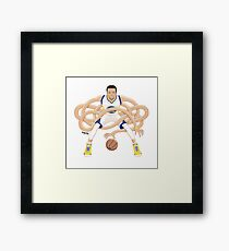 Gnarly Handles - Curry white Framed Print