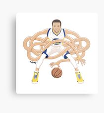 Gnarly Handles - Curry white Metal Print