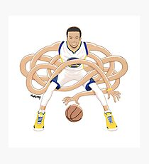 Gnarly Handles - Curry white Photographic Print
