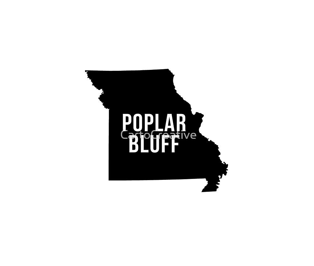 Poplar Bluff, Missouri Silhouette by CartoCreative