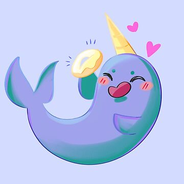 Narwhal Eating A Bagel by Pokealoke