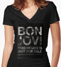 Bon Jovi Tour 2018 : This House Not For Sale Women's Fitted V-Neck T-Shirt