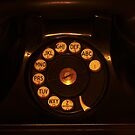 Black Rotary Phone by Robert Armendariz