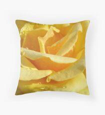 Dew on yellow Throw Pillow