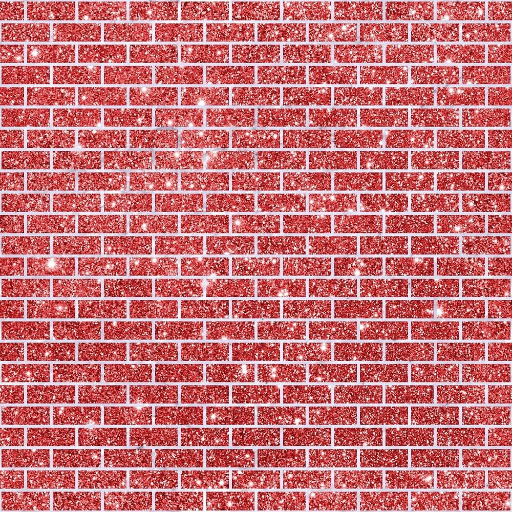 BRICK1 WHITE MARBLE & RED GLITTER by johnhunternance