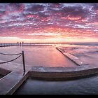 Mona Vale Beach Sunrise by STEPHEN GEORGIOU PHOTOGRAPHY