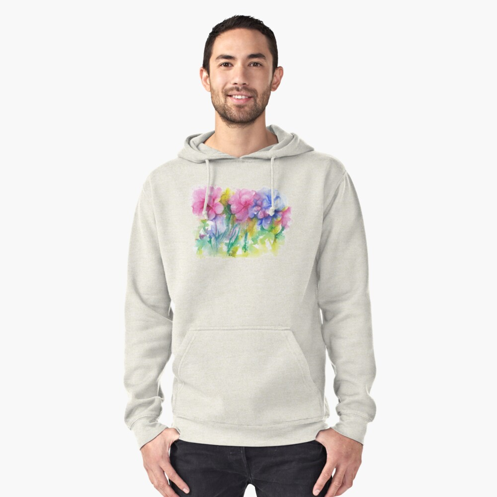 Tropical Color Anarchy  Pullover Hoodie Front