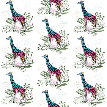 Happy Spring Giraffe Pattern by famenxt