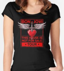 Bon Jovi Tour 2018: This House Not For Sale Women's Fitted Scoop T-Shirt