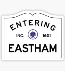 Entrer dans Eastham Massachusetts - Panneau de signalisation du Commonwealth du Massachusetts Sticker