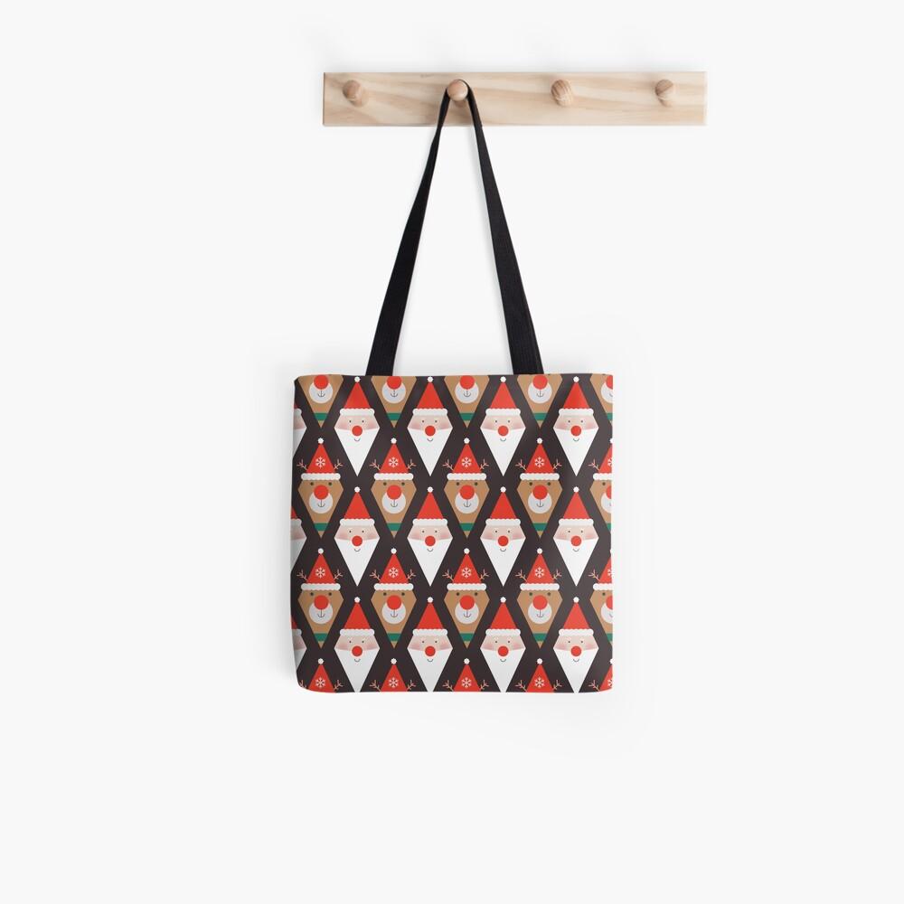 Santa & Rudolph Tote Bag