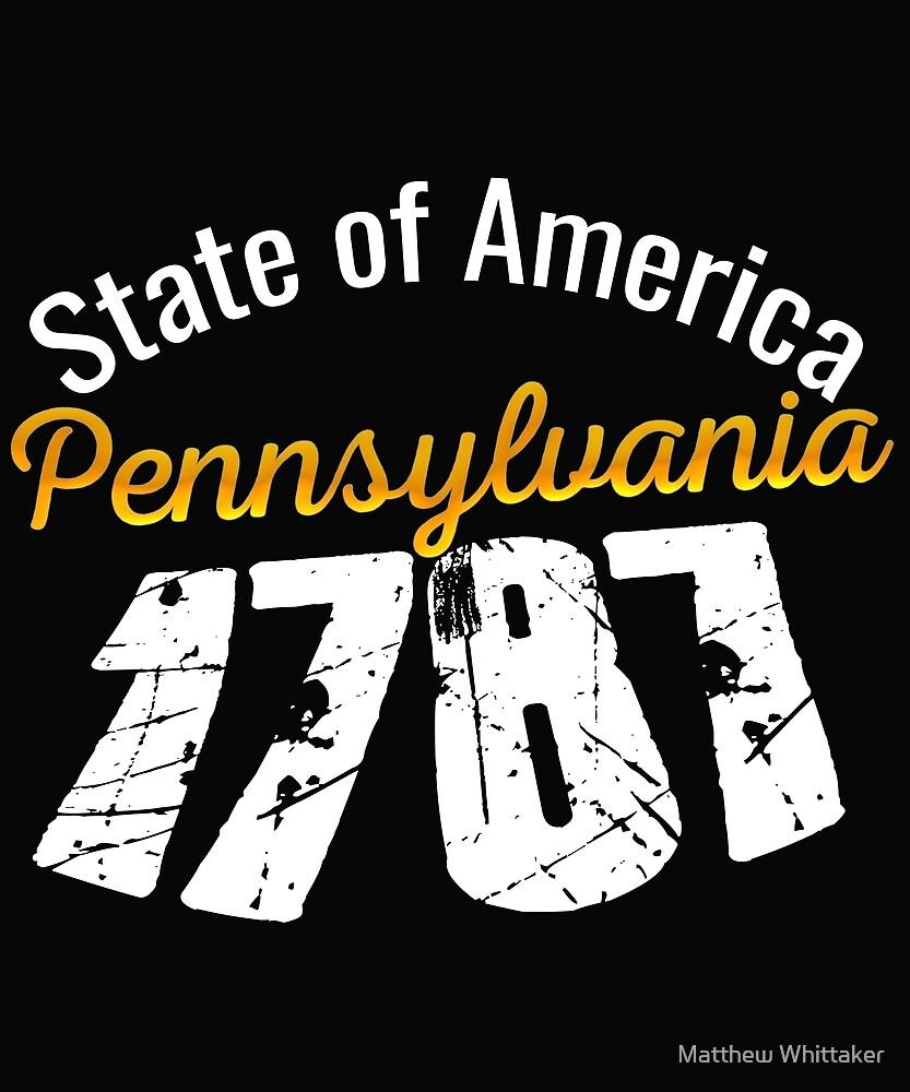 Pennsylvania State Of America 1787 by Matthew Whittaker
