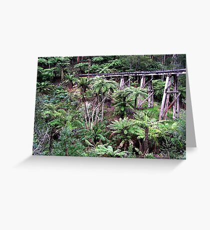 Railway Wooden Bridge for Puffing Billy Greeting Card