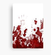 blood splatter Canvas Print
