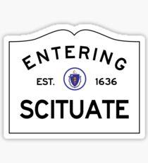 Entering Scituate Massachusetts - Commonwealth of Massachusetts Road Sign Sticker