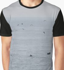 Dolphins near the British Isles Graphic T-Shirt