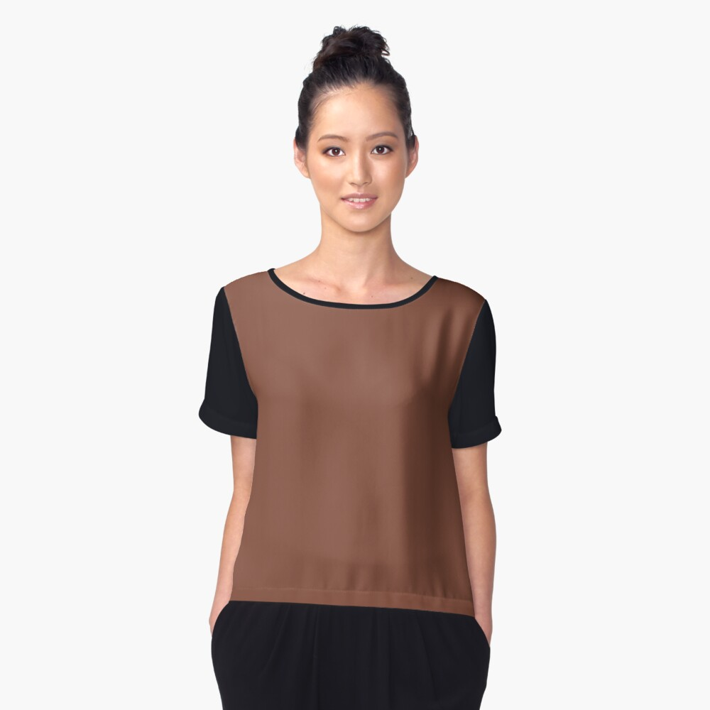 PANTONE 18-1230 TCX Coconut Shell Women's Chiffon Top Front