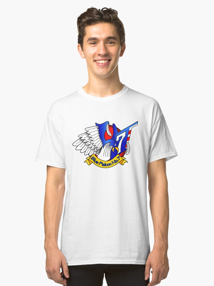 Captain Falcon Modern Logo Shirt Classic T-Shirt Front