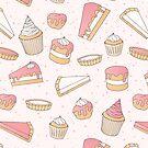 Pink Pastry Pattern by Anastasia Shemetova