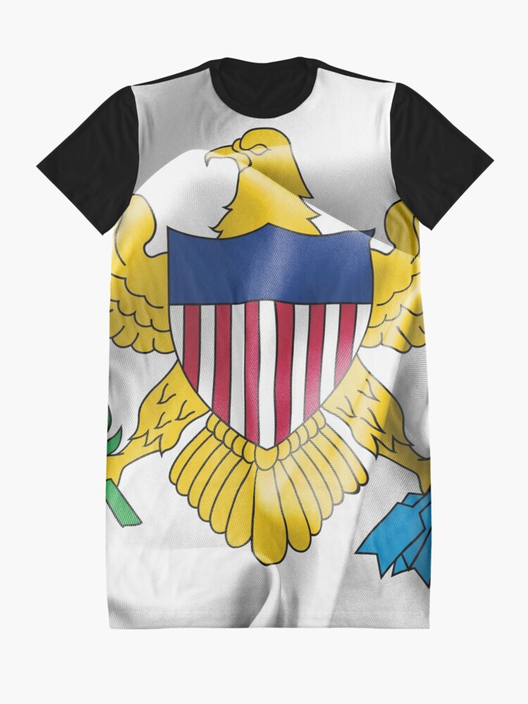 Alternate view of United States Virgin Islands Flag Graphic T-Shirt Dress
