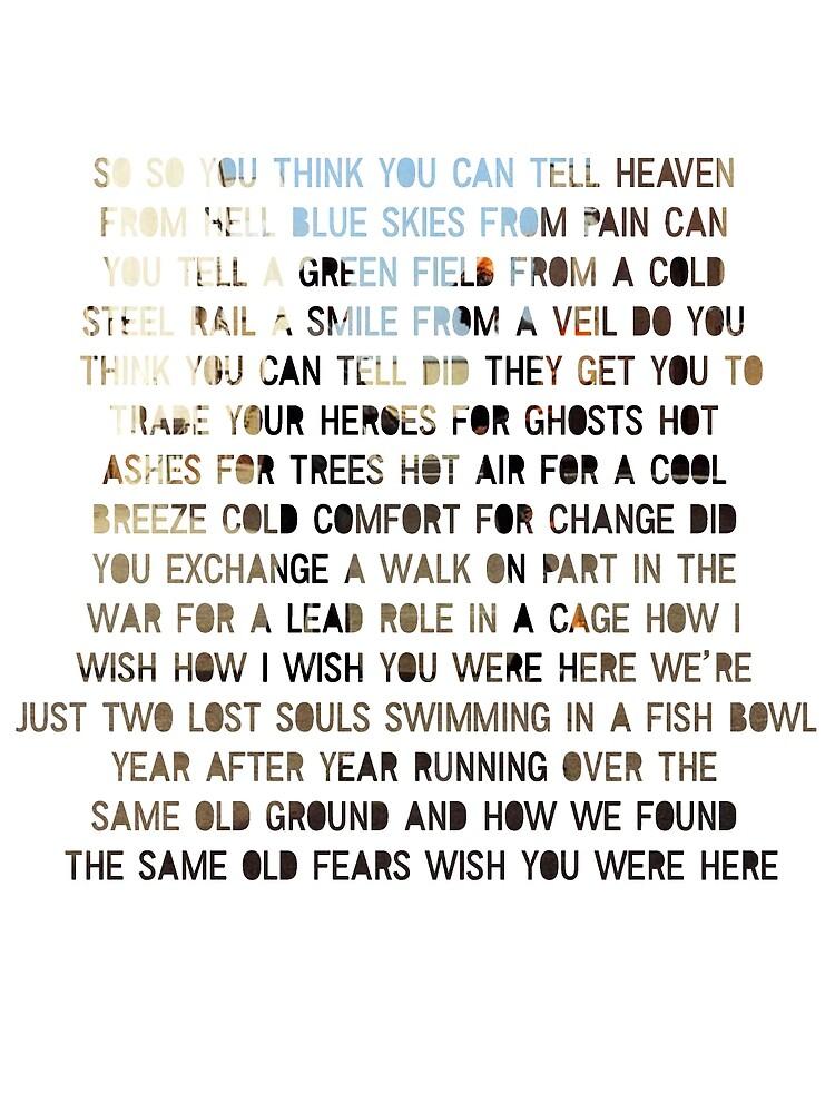 Wish You Were Here - Lyrics by JNDA88
